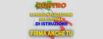 Firma contro la regionalizzazione